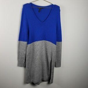 BCBGMaxaria Color block sweater dress size M